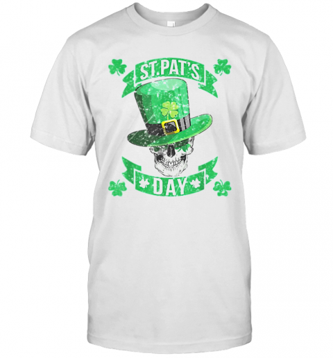Nice St Patricks Day With Sugar Skull Leprechaun T-Shirt