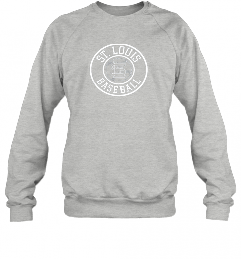 vwqu vintage st louis baseball missouri cardinal badge gift sweatshirt 35 front sport grey