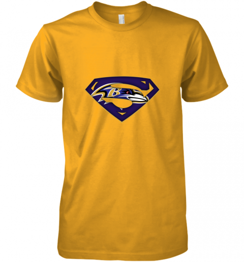 9vkp we are undefeatable the baltimore ravens x superman nfl premium guys tee 5 front gold