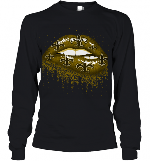 Sexy  Lips  New Orleans Saints NFL Youth Long Sleeve