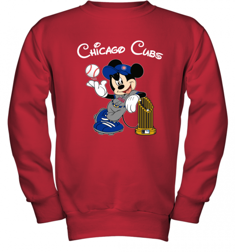 Chicago Cubs Mickey Taking The Trophy MLB 2019 Youth Sweatshirt