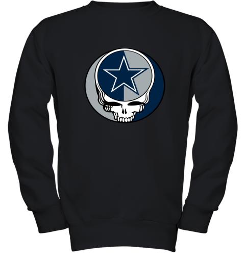 ulnq nfl team dallas cowboys x grateful dead youth sweatshirt 47 front black
