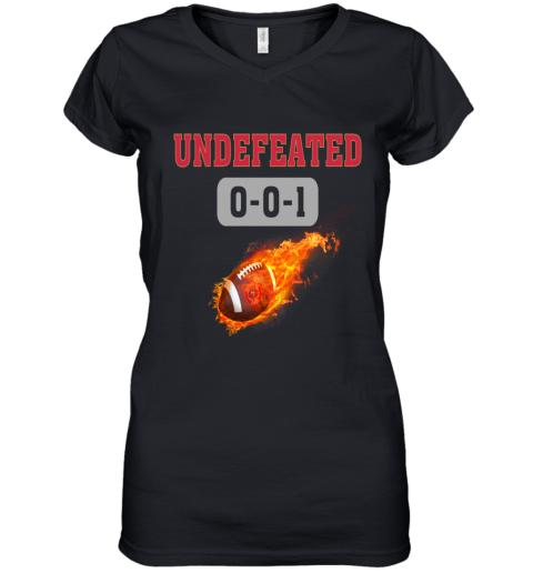 NFL SAN FRANCISCO 49ERS LOGO Undefeated Women's V-Neck T-Shirt