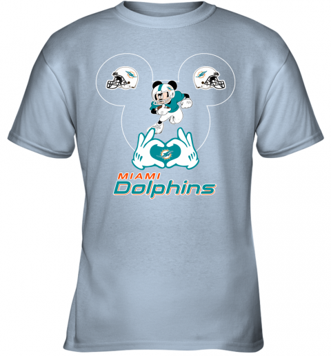 rovl i love the dolphins mickey mouse miami dolphins youth t shirt 26 front light blue