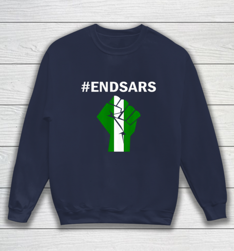 EndSARS End SARS Nigeria Flag Colors Strong Fist Protest Sweatshirt 2