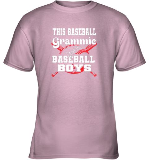 xvqk this baseball grammie loves her baseball boys youth t shirt 26 front light pink