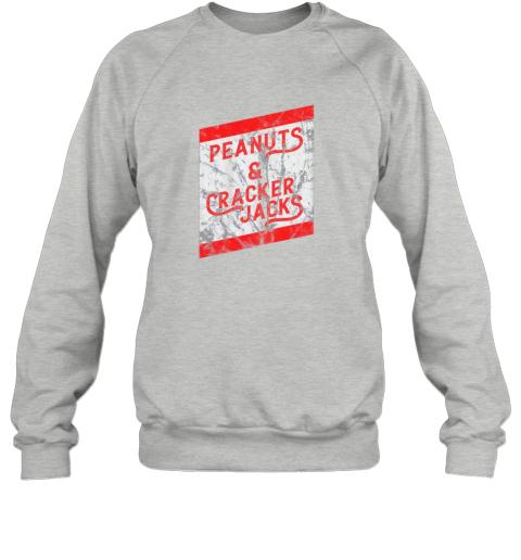 5wl1 vintage baseball shirt peanuts and cracker jacks sweatshirt 35 front sport grey