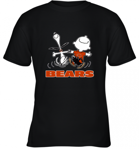 Snoopy And Charlie Brown Happy Chicago Bears NFL Youth T-Shirt