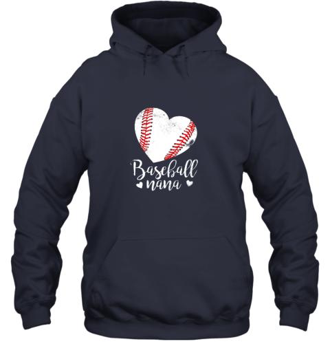 ztmy funny baseball nana shirt gift for men women hoodie 23 front navy