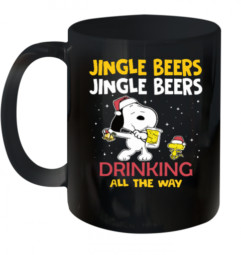 Jingle Beers Drinking All The Way Snoopy Ceramic Mug 11oz