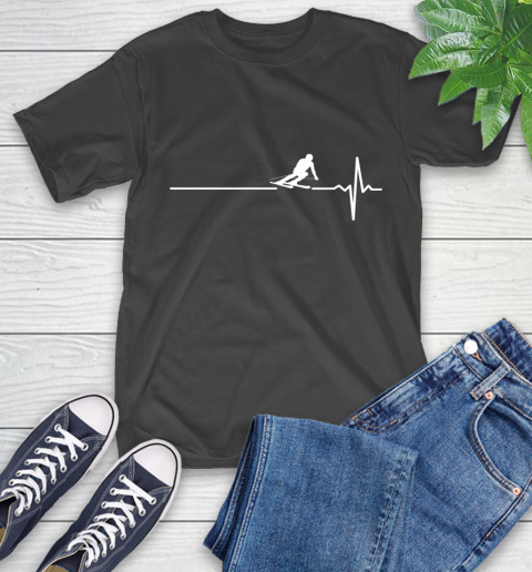 Skiing This Is How My Heart Beats T-Shirt