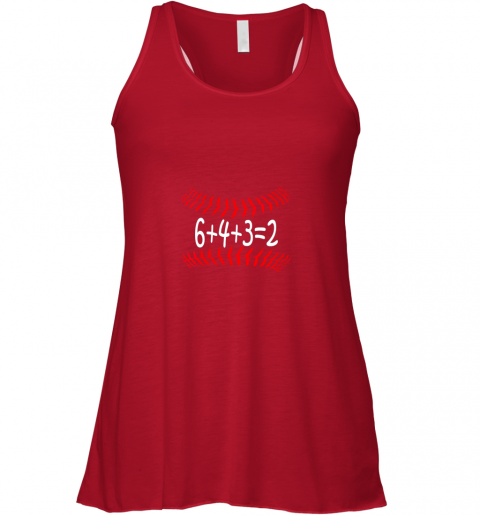 pbpf funny baseball 6432 double play shirt i gift 6 4 32 math flowy tank 32 front red