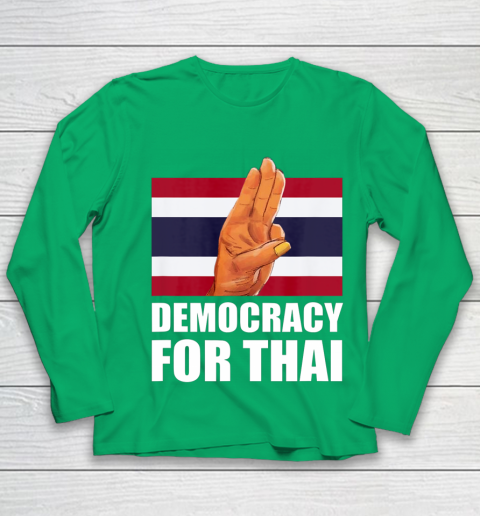 Democracy for Thailand Free Thai Protest Bangkok Support Youth Long Sleeve 4