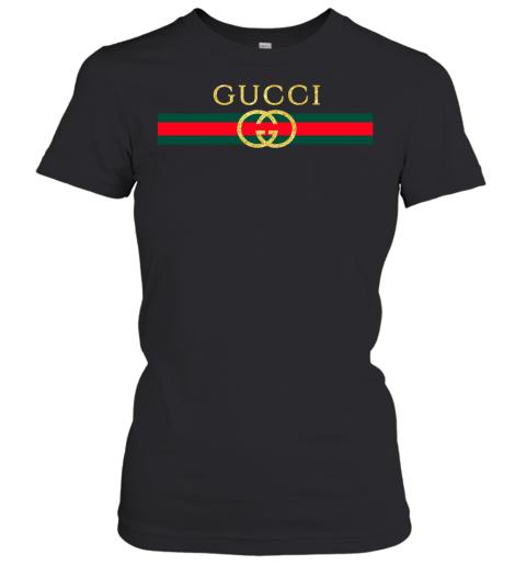 Gucci Logo Glitter Vintage Inspired Trend Womens T-Shirt