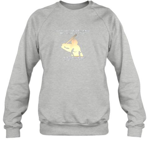 ptdg mens behind every baseball player is a dad that believes sweatshirt 35 front sport grey