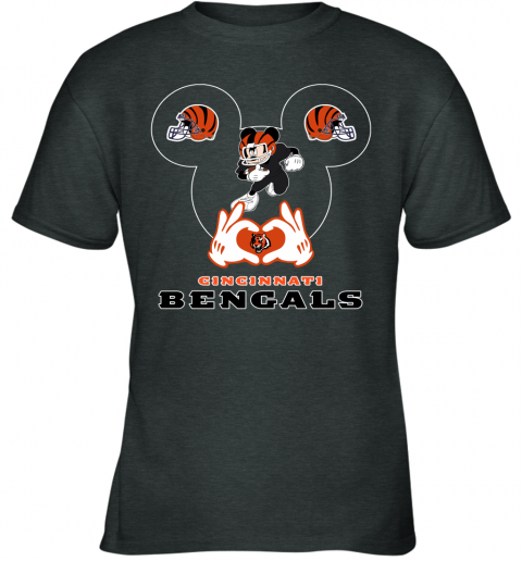 huqs i love the bengals mickey mouse cincinnati bengals youth t shirt 26 front dark heather