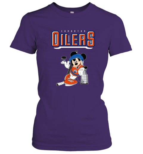 swbv mickey edmonton oilers with the stanley cup hockey nhl shirt ladies t shirt 20 front purple