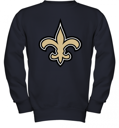 o7io orleans saints nfl pro line gray victory youth sweatshirt 47 front navy