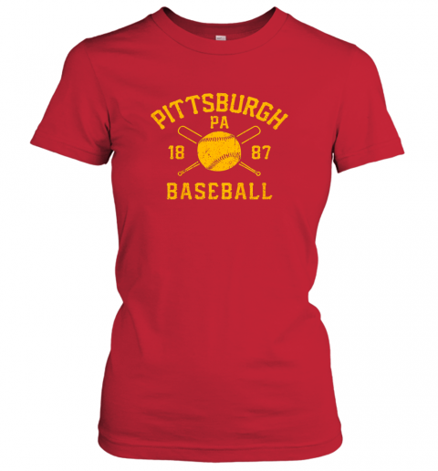 yybn vintage pittsburgh baseball pennsylvania pirate retro gift ladies t shirt 20 front red