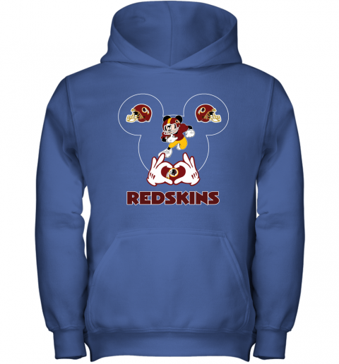wcro i love the redskins mickey mouse washington redskins youth hoodie 43 front royal
