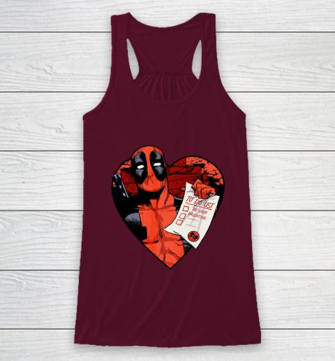 Marvel Deadpool Valentine To Do List Racerback Tank 2