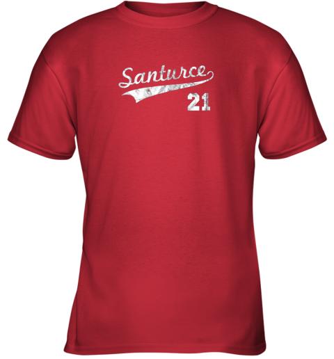 karl vintage distressed santurce 21 puerto rico baseball youth t shirt 26 front red