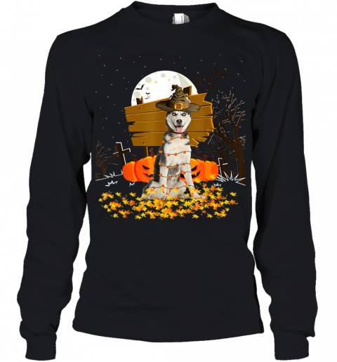 My Siberian Husky Pumpkins Halloween Dog Gift Youth Long Sleeve
