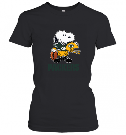 Snoopy A Strong And Proud Green Bay Packers NFL Women's T-Shirt
