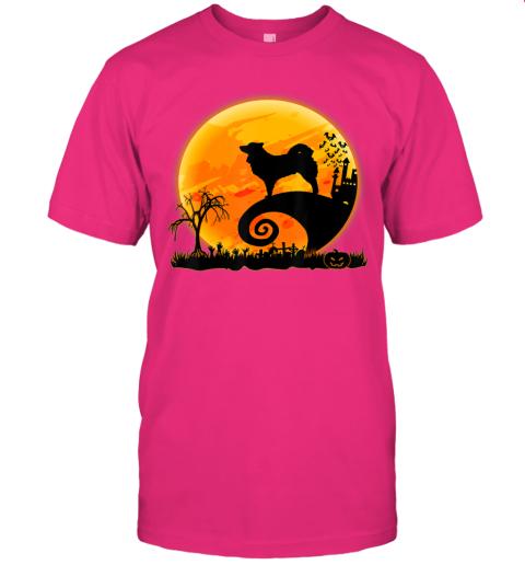 Icelandic Sheepdog Dog And Moon Funny Halloween Costume Gift T-Shirt