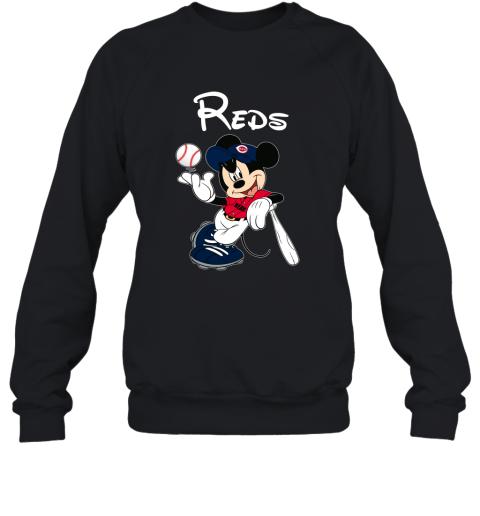 Baseball Mickey Team Cincinnati Reds Sweatshirt