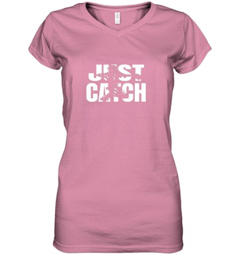 cppe just catch baseball catchers long sleeve shirt baseballisms women v neck t shirt 39 front azalea