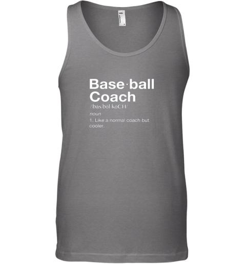 9jjo coach baseball shirt team coaching unisex tank 17 front graphite heather