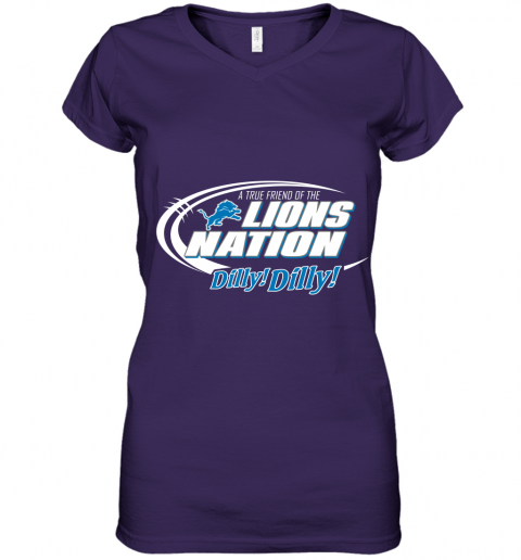 tfvl a true friend of the lions nation women v neck t shirt 39 front purple