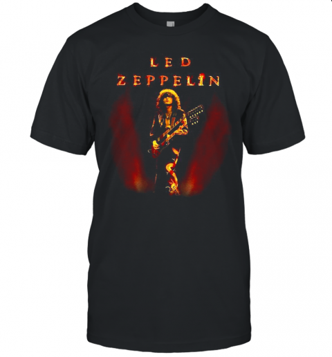 Led Zeppelin Band Playing Guitar Picture Unisex Jersey Tee