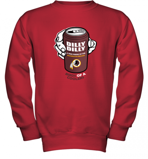 Bud Light Dilly Dilly! Washington Redskins Birds Of A Cooler Youth Sweatshirt
