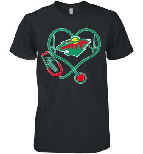 Heartbeat nurse love Minnesota Wild Premium Men's T-Shirt