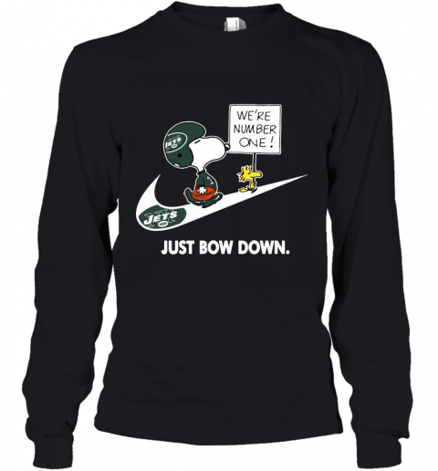NFL New York Jets Are Number One – NIKE Just Bow Down Snoopy Youth Long Sleeve