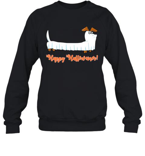 Dachshund Ghost Happy Halloweiner Funny Hallowen Dogs Lover Sweatshirt