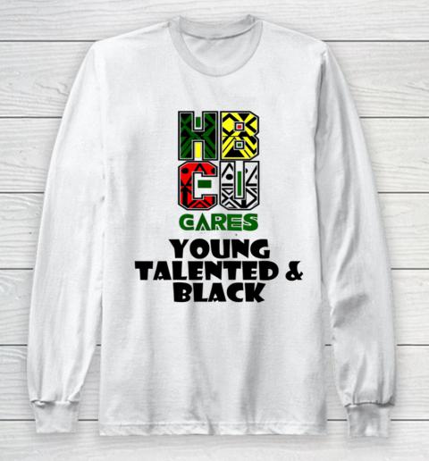 HBCU Cares College University Graduation Gift Black Schools Shirt Long Sleeve T-Shirt