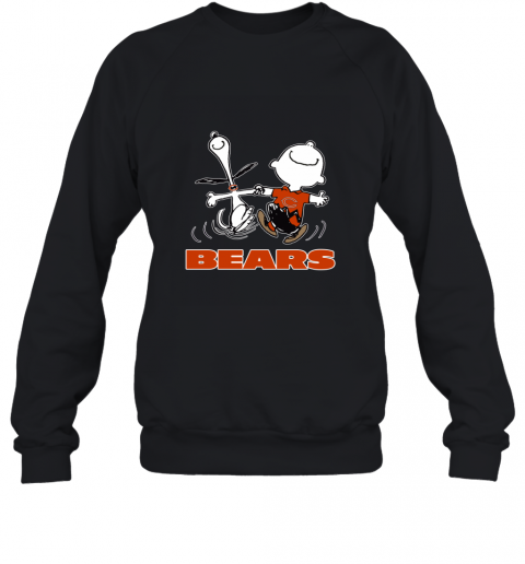 Snoopy And Charlie Brown Happy Chicago Bears NFL Sweatshirt