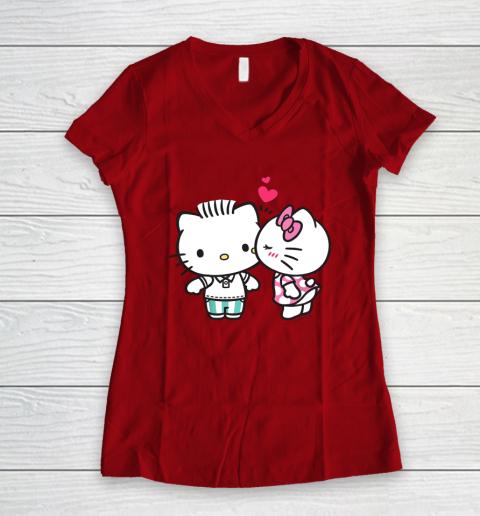 Hello Kitty and Dear Daniel Valentine Tee Women's V-Neck T-Shirt 8