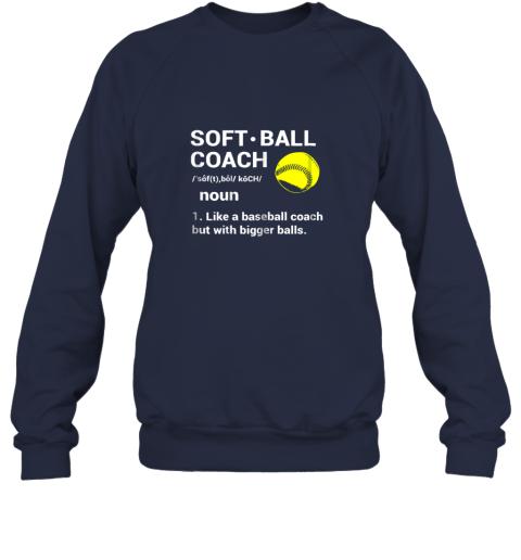 z5kc soft ball coach like baseball bigger balls softball sweatshirt 35 front navy