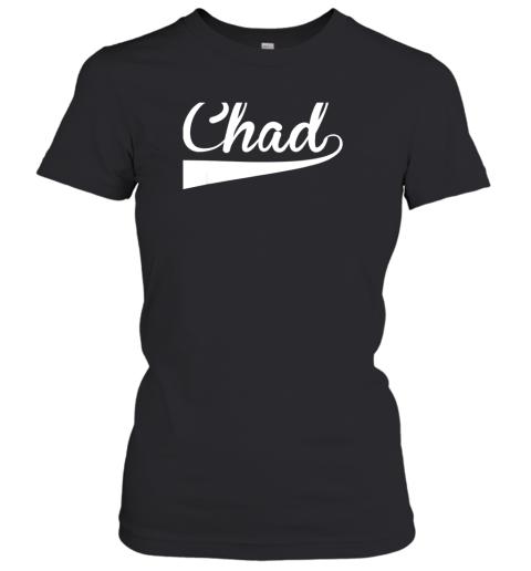 CHAD Country Name Baseball Softball Styled Women's T-Shirt