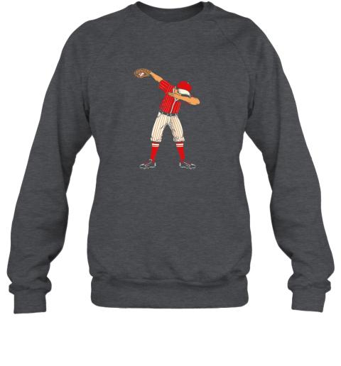 wyro dabbing baseball catcher gift shirt men boys kids bzr sweatshirt 35 front dark heather