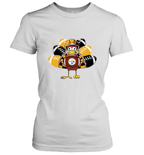 Pittsburg Steelers Thanksgiving Turkey Football NFL Women's T-Shirt