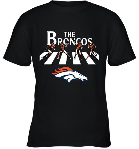 NFL Denver Broncos The Beatles Abbey Road Walk Youth T-Shirt