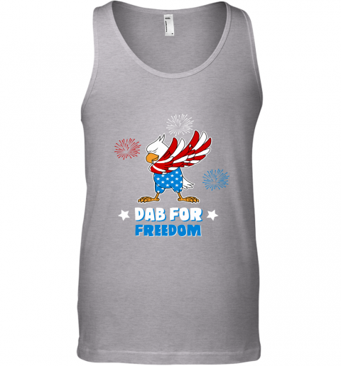 Bald Eagle American Dab For Freedom 4th Of July Tank Top