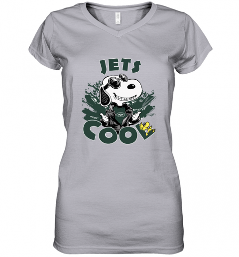 nutu new york jets snoopy joe cool were awesome shirt women v neck t shirt 39 front sport grey