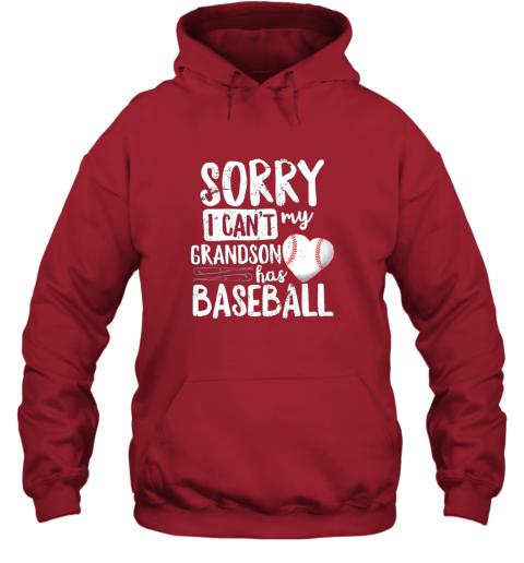 nv3u sorry i can39 t my grandson has baseball shirt grandma hoodie 23 front red