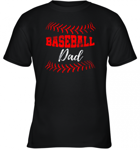 Mens Baseball Inspired Dad Fathers Day Youth T-Shirt